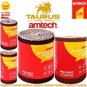 5M AMTECH Aluminium Oxide Sanding Roll 40 60 80 120 GRIT Anti Clog Sandpaper UK