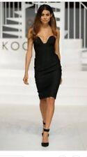 Kookai  Marnie Dress Black  Sz 34 Free Post (e87)