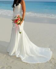 Beautiful Ivory Wedding Dress, Size 8-10, Strapless, Mermaid Style