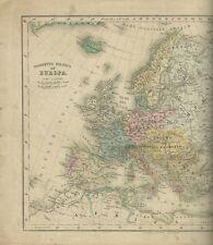 Prospetto Politico dell'Europa Atlante di Stieler Giusto Perthes Gotha 1870 c.a