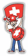"Switzerland Flag Sport Fan Car Bumper Sticker Decal 3"" x 6"""