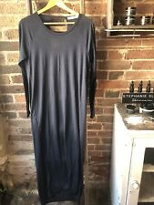 RABENS SALONER Indigo Pure Wool Jersey Dress S UK 8-10