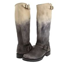 FRYE BOOT VERONICA SLOUCH STONE OMBRE STONEWASH BLACK LEATHER VERA CLASSIC 7.5