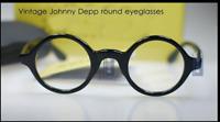 Round vintage Johnny Depp eyeglasses solid acetate glasses black RX optical lens