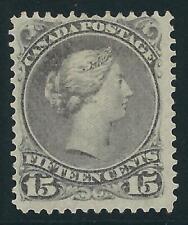 Canada # 30 Mint no gum - 1868-76 15c. Queen Victoria - $90