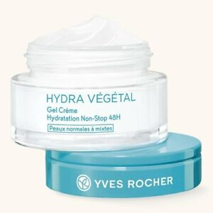 YVES ROCHER HYDRA VEGETAL 48H Rich Hydrating GEL CREAM 50 ml 13323 face care
