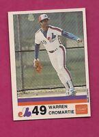 VERY RARE 1983 MONTREAL EXPOS WARREN CROMARTIE  STUART NRMT-MT CARD (INV# A2900)
