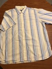 Izod Short Sleeve Button Up Button Down Collar Shirt Size XL