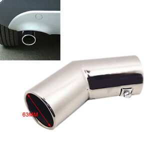 Universal 63MM Stainless Steel Car Round Exhaust Pipe Tail Muffler Tip Cover