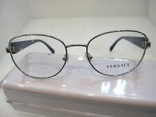 NEW VERSACE MOD.1246-B SILVER 1000 METAL EYEGLASSES FRAME SIZE 52-17-135 ITALY
