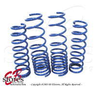 Front and Rear 4pcs Suspension Lowering Spring Blue For Kia Rio 2000-2004 2005