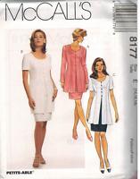 8177 Vintage McCalls SEWING Pattern Misses Mock Dress UNCUT OOP Career OOP SEW