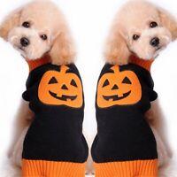 Halloween Haustier Kürbis Mantel Hund Welpen Katze Pullover Weste Coat Kleidung