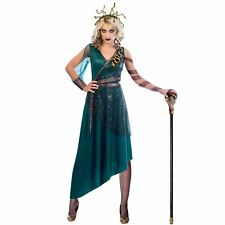 Donne Adulti Greco Gorgone Medusa Oro Serpente Dea Costume Halloween