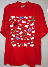 Far Out! Gooses Red 100% Cotton Short Slv T-Shirt Sheep Kiwi New Zealand Flag XL