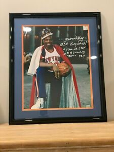 Bernard King Signed 16x20 Framed Photo. Steiner Auth with multiple inscriptions