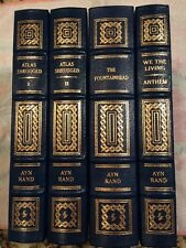 Easton Press NOVELS OF AYN RAND 4 vols Atlas Shrugged Fountainhead We The Living