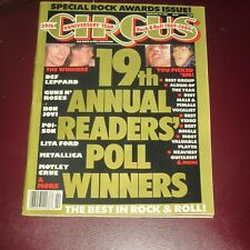 Circus Magazine Feb 28 1989 Complete Magazine 19th Readers Poll Crue Guns Roses