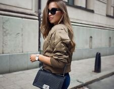 Zara Khaki Bomber XS 6 8 Bloggers Fave SOLD OUT Veste Matelassée Extra Small