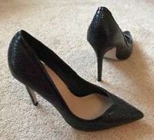 Asos Black Snake Skin Effect High Heel Stiletto Shoes Uk 6 New !