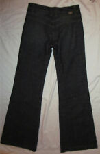 DITTOS BELL BOTTOM in ABYSS 70's style stertchy dark retro color jeans 26 NWT *