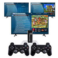 10000+ 4K / TV Video Game Stick Spielekonsole + 2 Controllers Für GBA N64 PS1