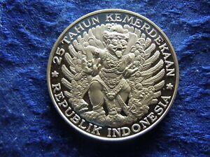 INDONESIA 750 RUPIAH 1970, KM26 PROOF STRIKE
