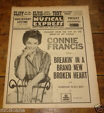 NME JUNE 9 1961 CONNIE FRANCIS ANTHONY NEWLEY CLIFF ELVIS ROY ORBISON PATTI PAGE