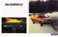 1980 MITSUBISHI SCORPION 2.6 Australian Brochu DODGE CHALLENGER PLYMOUTH SAPPORO