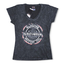 Harley-Davidson T-Shirt Biker Short Sleeves Woman Tel Aviv Israel Dark-gray