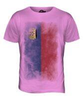 Liechtenstein Délavé Drapeau Hommes T-Shirt Haut Cadeau Chemise Vêtements
