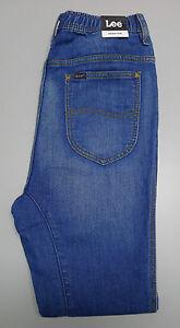 NEW LEE JEANS Slacker Trak Men's Blue Slouchy Denim Style Track Pants SMALL $150