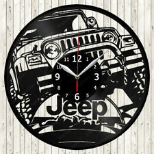 Jeep Cars Vinyl Record Wall Clock Decor Handmade 1540