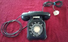 Old Black Stromberg Carlson Rotary Dial Desk Telephone Vintage Electronic 1543 A