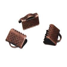 300 Copper Tone Ribbon End Cap Crimp Beads 8mm x 7mm - FD402