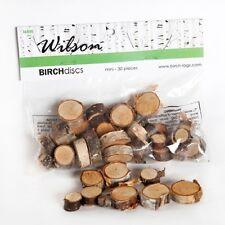 Wilson Evergreens Mini Birch Discs Asst Sizes 30 pcs Crafts 10000817
