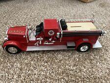 1929 MACK PUMPER TRUCK - TEXACO PORT ARTHUR TEXAS FIRE DEPT ERTL DIECAST BANK