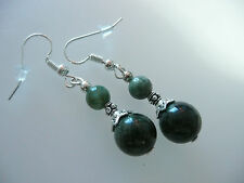 Vintage Art Deco Style Cornish & Russian Serpentine Not So Long Earrings