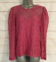 BNWT Size 10 LACE Top With Cami TU Pink Long Sleeved Formal Women's Ladies