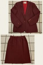 Vintage Levi Jacket & Skirt Suit Women Blazer Burgundy Pinstripe NEW 1980s Sz 12