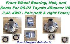 Front Wheel Bearing, Hub & Seals For 1996 1997-2002 Toyota 4 Runner V6 4WD-Pair