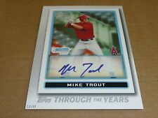 2021 Topps THROUGH THE YEARS 5 X 7 JUMBO 20/49 MIKE TROUT ANGELS #28