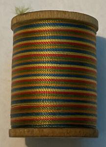 Vintage Gude-Wind 50 Yds. Nylon Rainbow Thread on Wood Spool