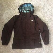 2 In 1 North Face Jacket Women's Size XL HyVent SkI / Snowboard Coat Dark Brown