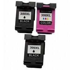 PACK 3 cartuchos para HP 300 XL Deskjet d2560 Photosmart c4740 c4750 c4780 c4785