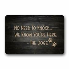 No Need to Knock We Know You're Here The Dogs Doormat Bedroom Floor Rug Decor
