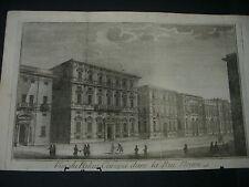1788  ACQUAFORTE GUIDOTTI GENOVA VEDUTA DEL PALAZZO CAREGA SULLA VIA NUOVA