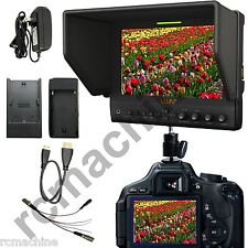 "Lilliput 7"" 663/O IPS 1080P HDMI In & Out Monitor fr Canon 5D2 5D3 II LP-E6 adpe"