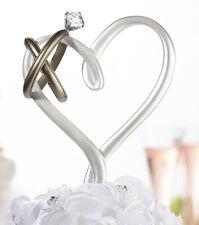 Heart With Wedding Rings Cake Pick Resin Wedding Cake Topper