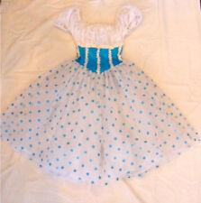Joanna Designs White and Blue Women's Petite Costume Dress
